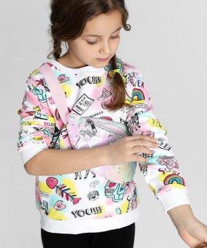 Джемпер для девочек O`Stin. Цвет: молочный