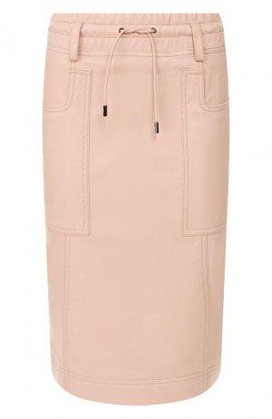 Кожаная юбка Tom Ford. Цвет: светло-розовый