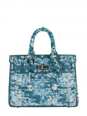 Pristine, Birkin 30cm, Persian Rug, TURQUOISE, Leather Epsom, PHW - Final Sale Jay Ahr. Цвет: blue