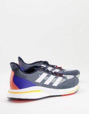 Темно-синие кроссовки adidas Training Supernova M-Темно-синий performance