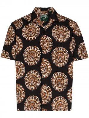 Рубашка с принтом Medallion Kalamakari Gitman Vintage. Цвет: черный