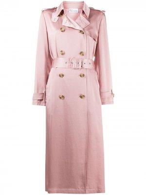 Satin trench coat RedValentino. Цвет: розовый