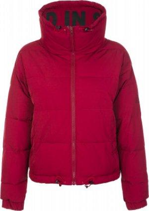 Куртка утепленная женская , размер 48 Kappa. Цвет: красный