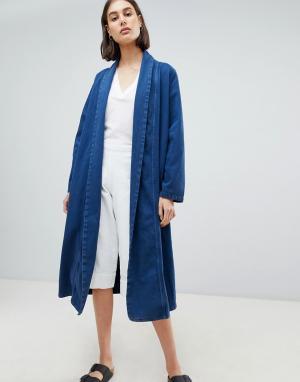 Джинсовая куртка Anja Waven. Цвет: синий