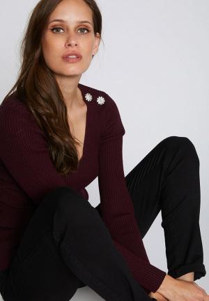 Пуловер Morgan. Цвет: бордовый