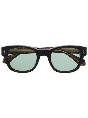 Солнцезащитные очки в круглой оправе Cartier Eyewear. Цвет: коричневый