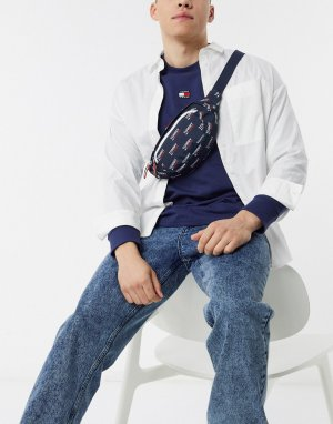 Синяя сумка-кошелек на пояс с логотипом -Синий Tommy Jeans