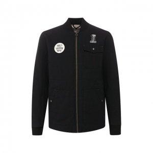 Хлопковая куртка Garage Harley-Davidson. Цвет: чёрный
