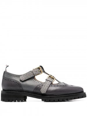 Туфли монки John Thom Browne. Цвет: серый
