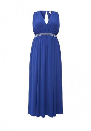 Платье Just Joan MAXI DRESS WITH EMBELLISHED WAIST. Цвет: синий