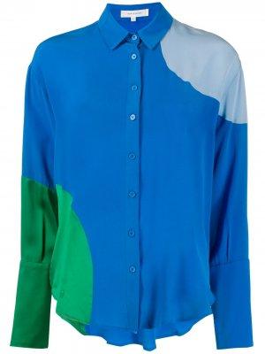 Рубашка в стиле колор-блок Chinti and Parker. Цвет: синий
