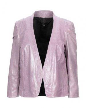 Пиджак DACUTE. Цвет: розовато-лиловый