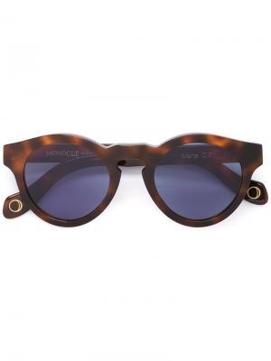 Солнцезащитные очки Marte Monocle Eyewear. Цвет: коричневый