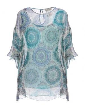 Блузка FUZZI. Цвет: цвет морской волны