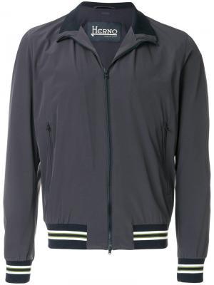 Куртка-бомбер с полосатой отделкой Herno