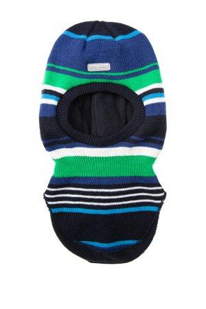 Шапка PlayToday. Цвет: синий, черный, зеленый