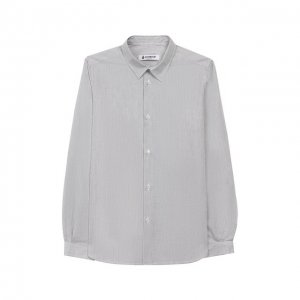 Хлопковая рубашка Dondup. Цвет: серый