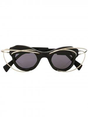 Декорированные солнцезащитные очки L1 BM Kuboraum. Цвет: черный