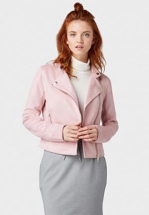 Куртка кожаная Tom Tailor Denim. Цвет: розовый