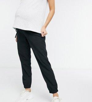 Черные джоггеры из плетеной ткани ASOS DESIGN Maternity-Черный Maternity