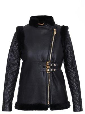 Куртка кожаная на меху Philipp Plein. Цвет: черный