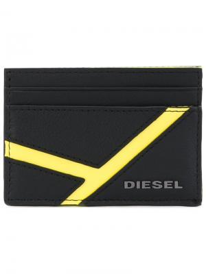 Классическая визитница Diesel. Цвет: чёрный