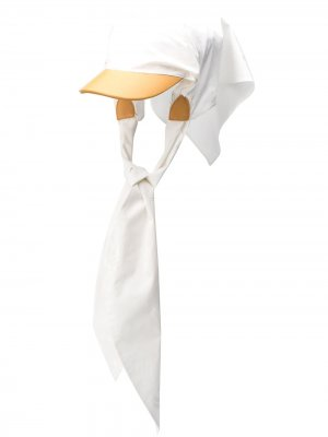 Бейсбольная кепка с завязками LANVIN. Цвет: белый