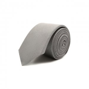 Шелковый галстук BOSS. Цвет: серый