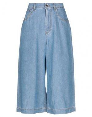 Джинсовые брюки-капри DOLCE & GABBANA. Цвет: синий