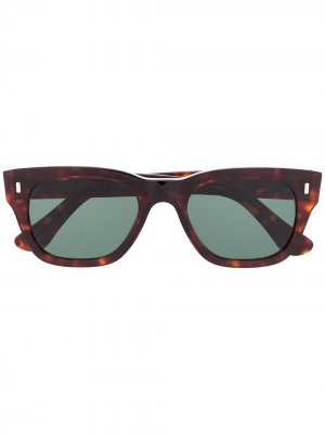 Солнцезащитные очки черепаховой расцветки Cutler & Gross. Цвет: коричневый