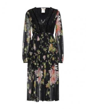 Платье миди FUZZI. Цвет: черный