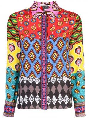 Блузка Willa Alice+Olivia. Цвет: разноцветный
