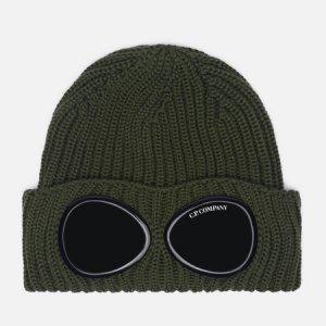Шапка Extra Fine Merino Wool Goggle C.P. Company. Цвет: зелёный