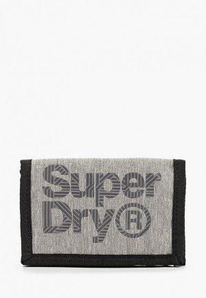 Кошелек Superdry. Цвет: серый