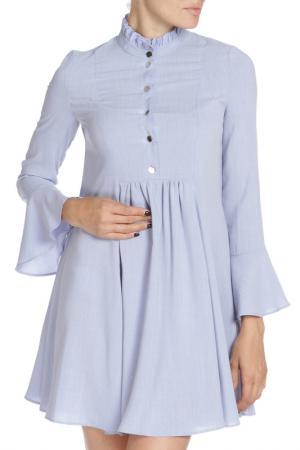 Платье Libellulas. Цвет: голубой, меланж
