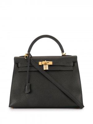 Сумка Kelly 32 Hermès. Цвет: черный