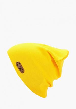 Шапка Logro kids. Цвет: желтый