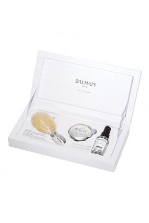 Набор мини-щетка Silver Spa • Ограниченный выпуск Balmain Paris Hair Couture. Цвет: серебряный
