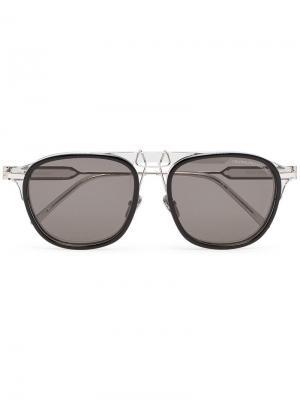 Круглые солнцезащитные очки Calvin Klein 205W39nyc. Цвет: черный