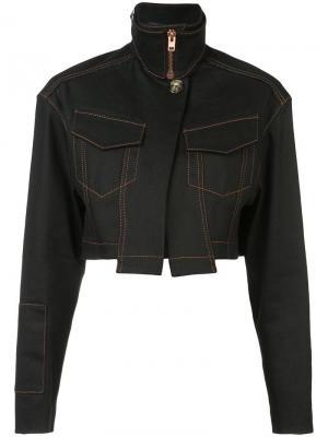 Эластичная укороченная джинсовая куртка Proenza Schouler