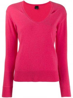 Пуловер с длинными рукавами Pinko. Цвет: розовый