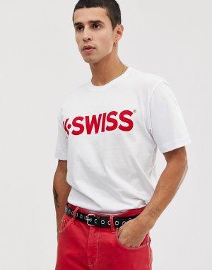 Белая футболка с логотипом -Белый K-Swiss