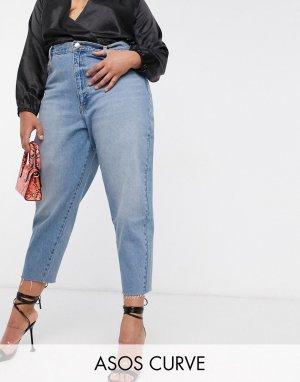 Синие джинсы бойфренда ASOS DESIGN Curve-Синий Curve