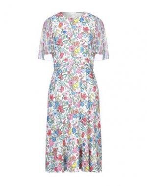 Платье до колена ELIE TAHARI. Цвет: белый