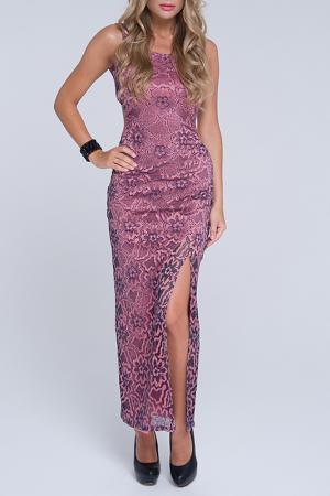 Платье Gloss. Цвет: синий, розовый