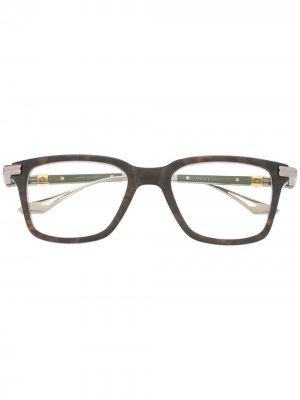 Очки со сменной оправой Dita Eyewear. Цвет: коричневый