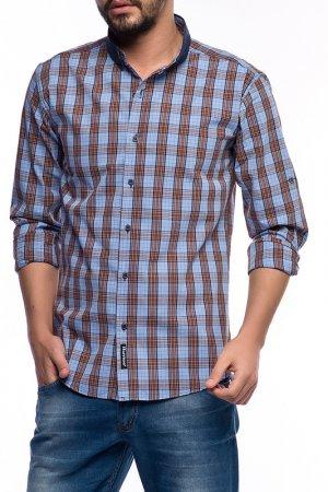 Рубашка Harrison. Цвет: коричневый