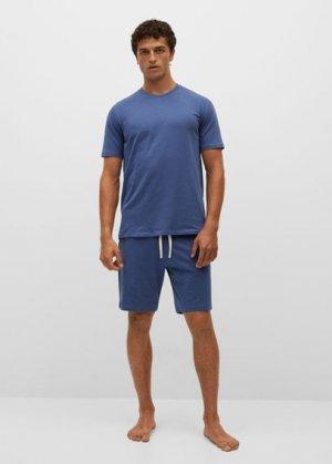 Комплект пижама из органического хлопка - Begur Mango. Цвет: индиго