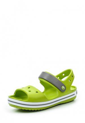 Сандалии Crocs Crocband Sandal Kids. Цвет: зеленый