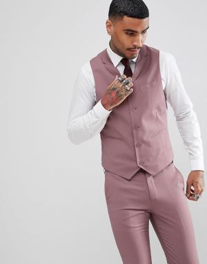 Приталенный жилет пастельного оттенка Rudie Wedding-Розовый